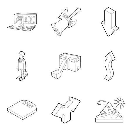 Sports science icons set. Outline set of 9 sports science vector icons for web isolated on white background