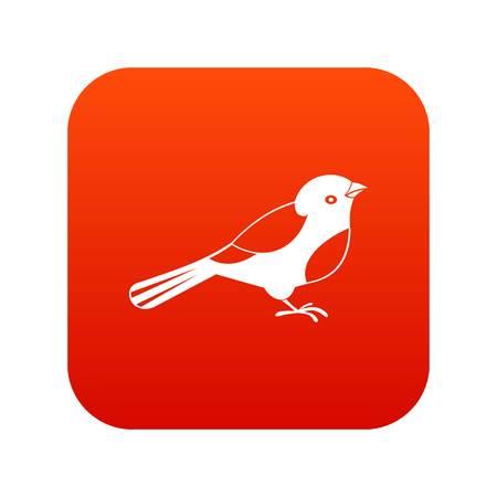 Bird digital icon Illustration