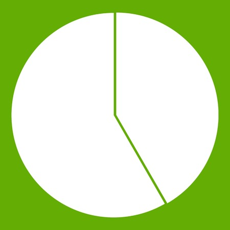Abstract pie chart for business icon green