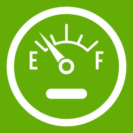 Fuel sensor icon green