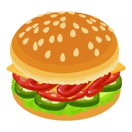 Hamburger icon, isometric style Illustration