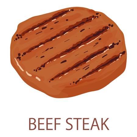 Beef steak icon, isometric style