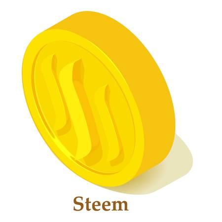 Steem icon, isometric style