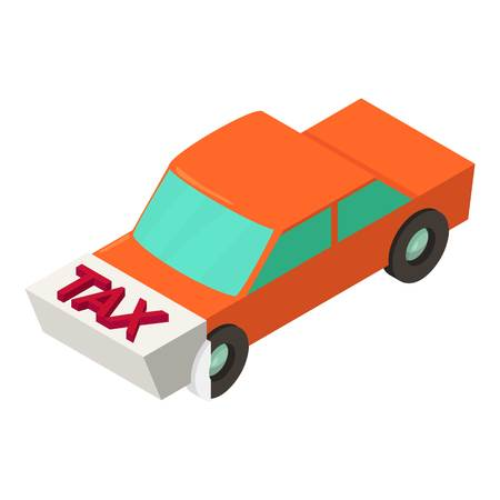Tax for car icon, isometric style