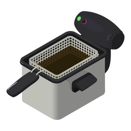 Fryer icon, isometric style