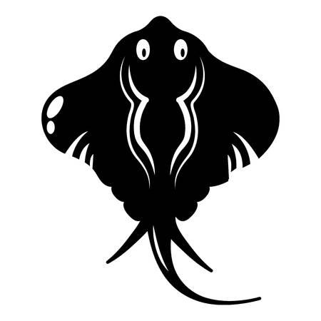 Stingray icon. Simple illustration of stingray vector icon for web