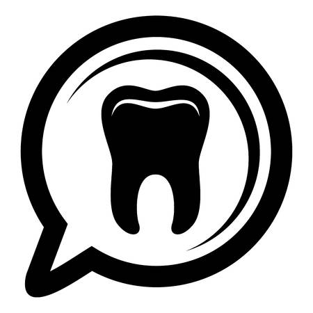 Explore tooth icon, simple style Illustration
