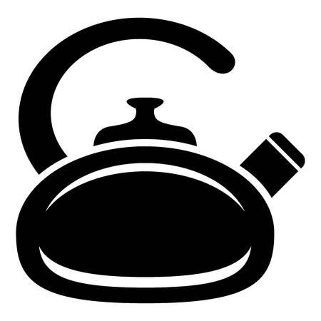 Pot bellied kettle icon Illustration