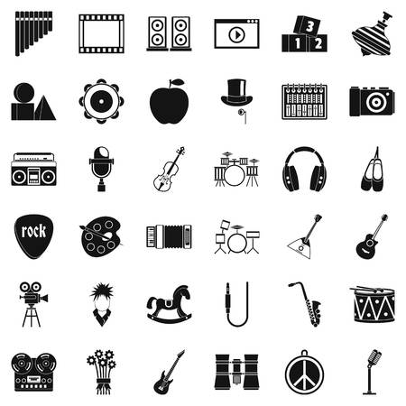 Operetta icons set. Simple set of 36 operetta vector icons for web isolated on white background