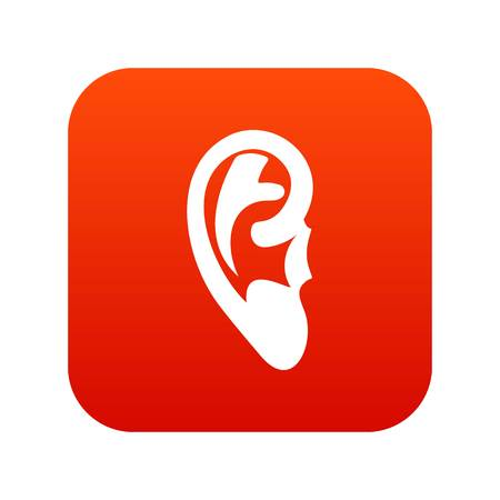 Ear icon digital red