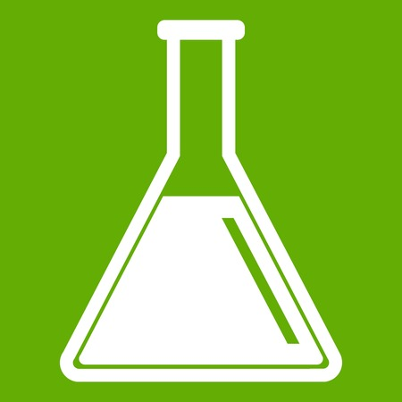 Test tube with oil icon green