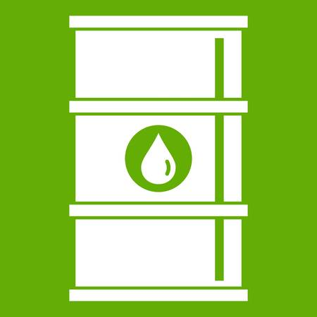 Oil barrel icon green
