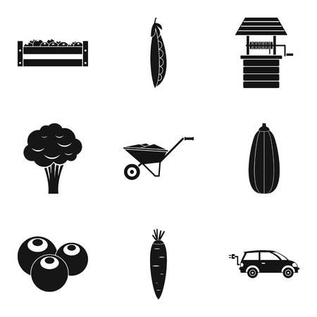 Productiveness icons set