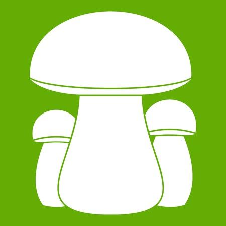 Mushroom icon on green background