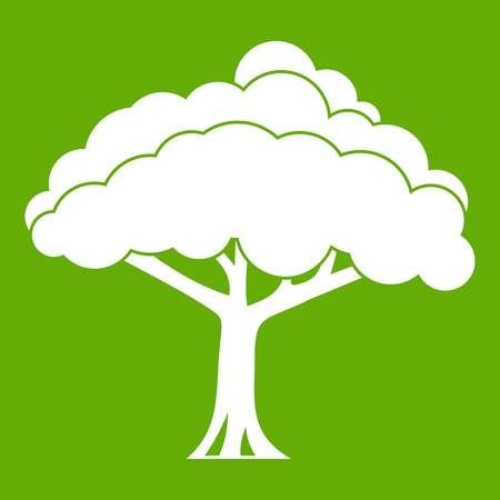 Tree icon on green background