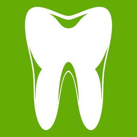 Human tooth icon green