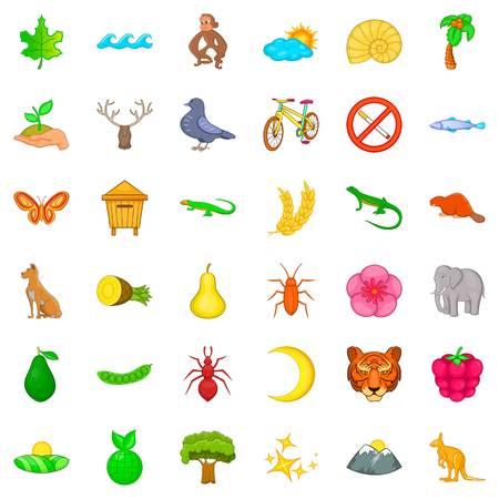 Sanctuary park icons set