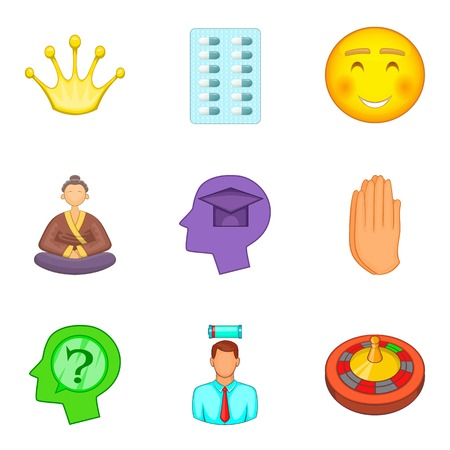 Psychology icons set