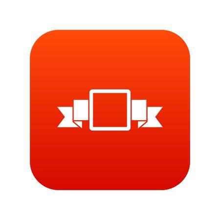 Small square banner icon digital red Stock Illustratie