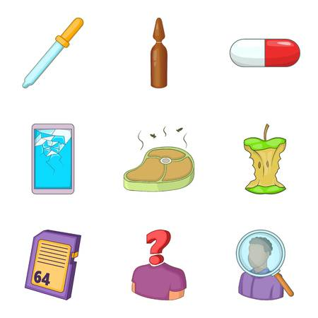 Test of the quality icons set Illustration