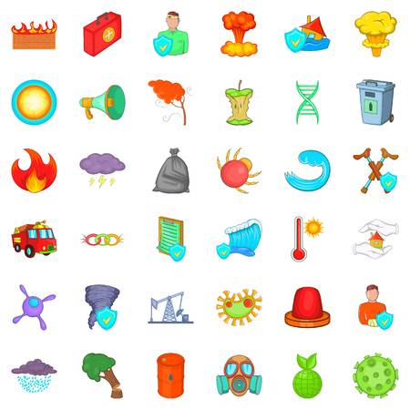 Remote icons set, cartoon style Illustration