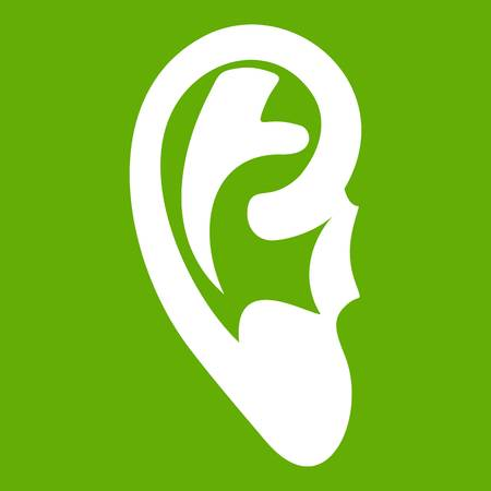 Ear icon in green