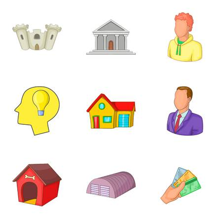 Realty icons set Illustration