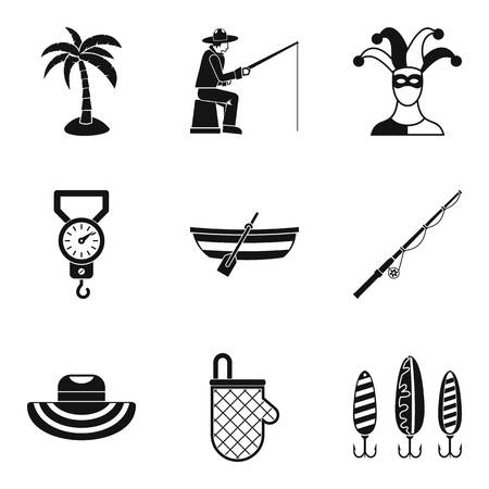 Hobby for relaxation icons set