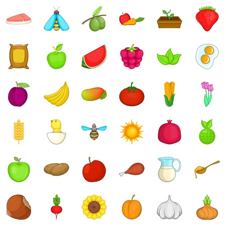 Foodstuff icons set