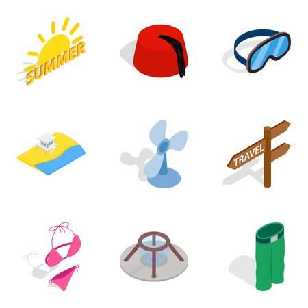 Rest period icons set