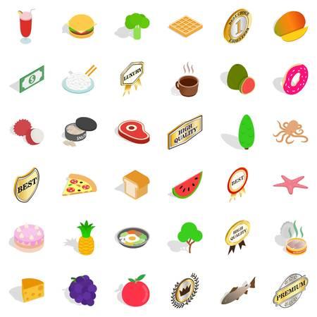 Nourishment icons set