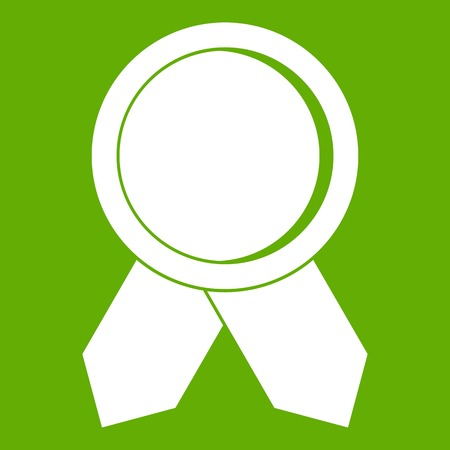 Circle badge wih ribbons icon in green