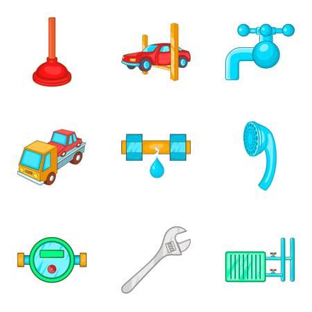 Refurbish icons set Illustration