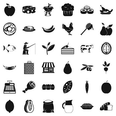 Verdant icons set Banco de Imagens - 95748050