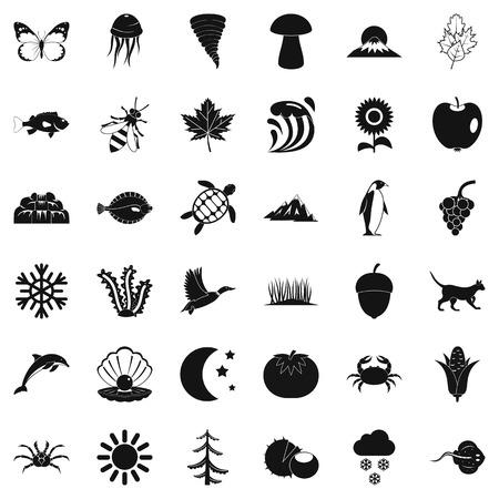 Inborn icons set, simple style