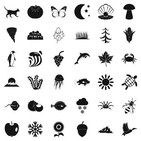 Congenital icons set Illustration