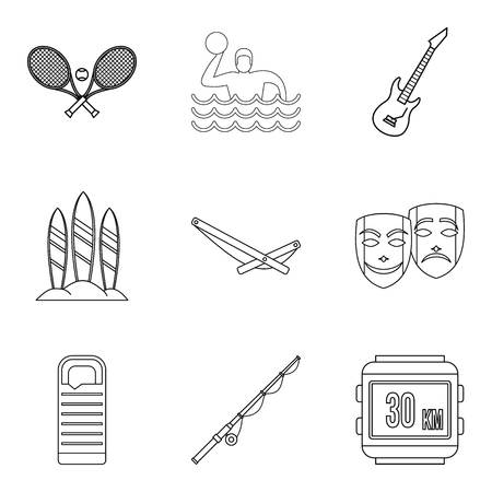 Chill out icons set