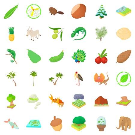 Exterior life icons set