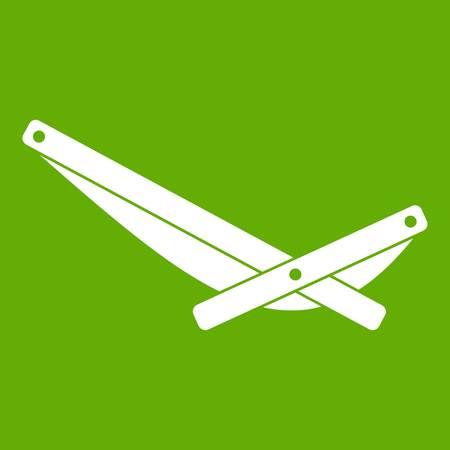 Recliner icon on green background . Standard-Bild - 96000397