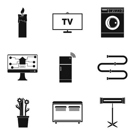 Chores icons set, simple style Иллюстрация