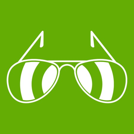Sunglasses icon green