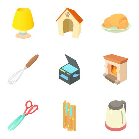 Home technical icons set