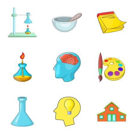 Advanced degree icons set