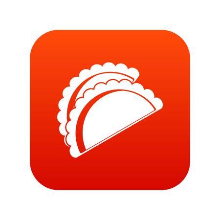Empanadas de icono de pollo Foto de archivo - 96077031
