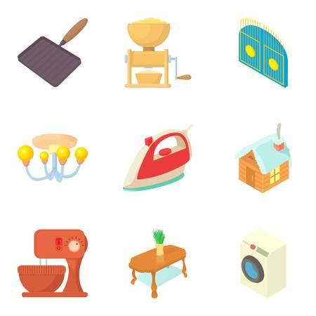 Household utensils icons set Ilustrace