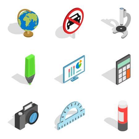 Schooling icons set