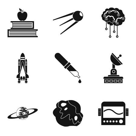 Cognitive icons set, simple style