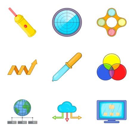 Savant icons set, cartoon style.