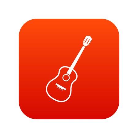 Charango icon digital red.