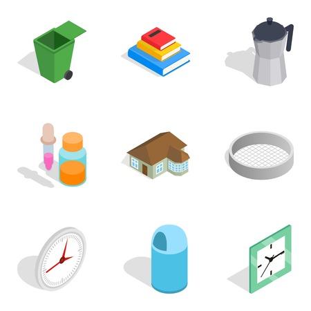 Homel icons set, isometric style